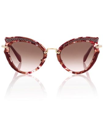 Miu Miu - Noir cat-eye sunglasses - mytheresa.com
