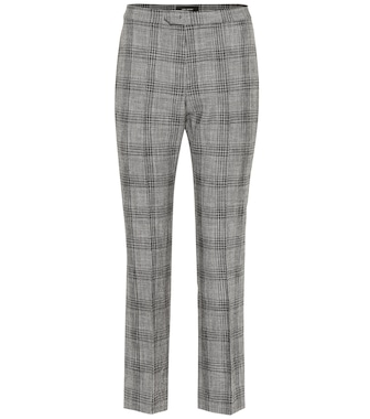 Isabel Marant - Derys checked cotton and wool pants - mytheresa.com