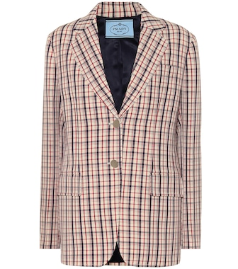 Prada - Checked wool blazer - mytheresa.com