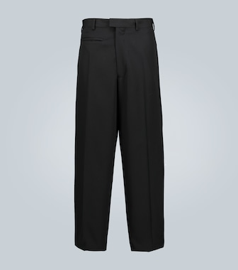 Bottega Veneta - Wide-leg wool pants - mytheresa.com