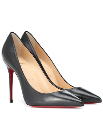 Christian Louboutin - Kate 100 leather pumps - mytheresa.com