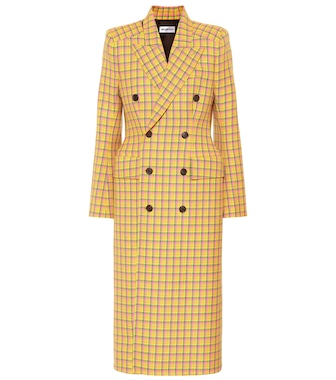 Balenciaga - Checked wool coat - mytheresa.com
