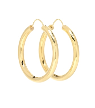 THEODORA WARRE - Gypsy 18kt gold-plated hoop earrings - mytheresa.com