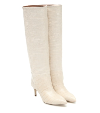 Paris Texas - Exclusive to Mytheresa – Croc-effect leather knee-high boots - mytheresa.com