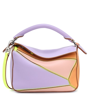 Loewe - Paula's Ibiza Puzzle Mini leather shoulder bag - mytheresa.com