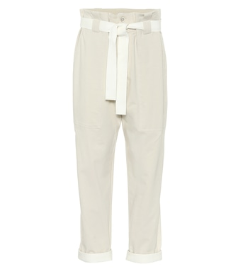 Brunello Cucinelli - Stretch-cotton paperbag pants - mytheresa.com