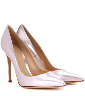 Gianvito Rossi - Exclusive to mytheresa.com - Gianvito 105 leather pumps - mytheresa.com