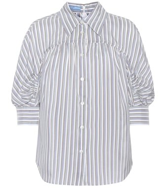 Prada - Silk striped shirt - mytheresa.com