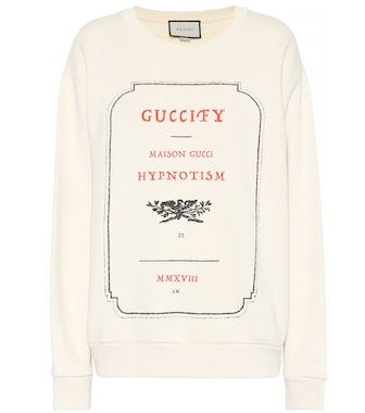 Gucci - Guccify cotton sweatshirt - mytheresa.com