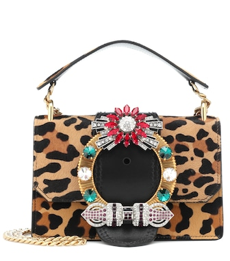 Miu Miu - Calf hair shoulder bag - mytheresa.com