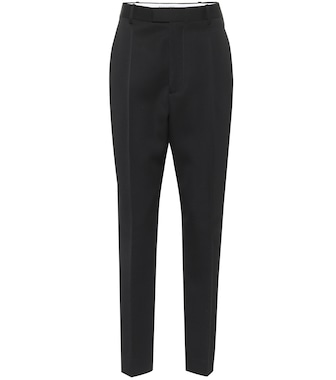 Bottega Veneta - High-rise wool slim pants - mytheresa.com