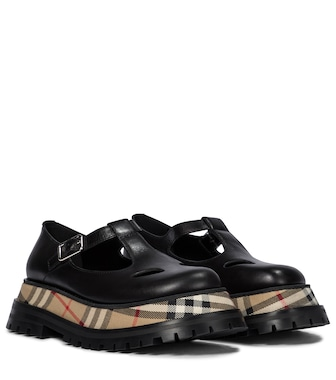 Burberry - Aldwych leather Mary Jane loafers - mytheresa.com