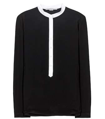 Stella McCartney - Blusa Eva in crêpe de chine - mytheresa.com