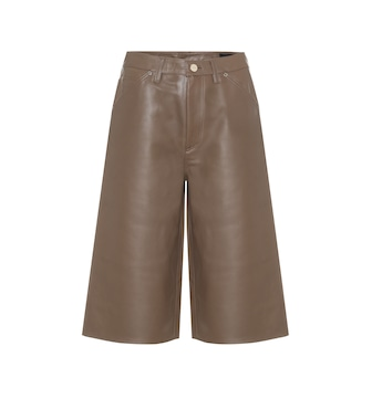Goldsign - High-rise leather Bermuda shorts - mytheresa.com