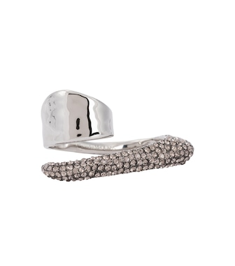 Alexander McQueen - Embellished two-finger ring - mytheresa.com