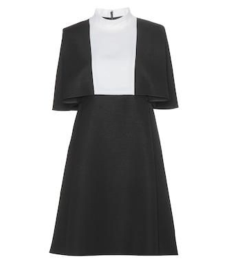 Valentino - Two-tone wool dress - mytheresa.com