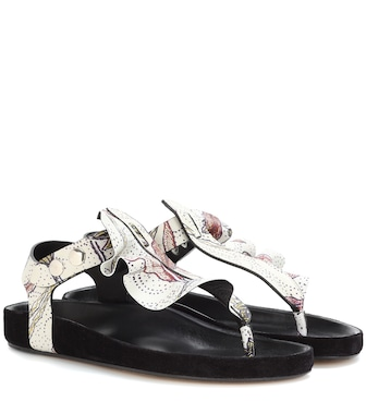 Isabel Marant - Leakey leather sandal - mytheresa.com