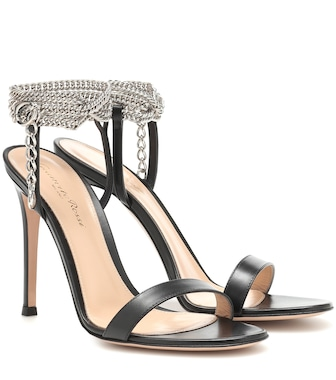 Gianvito Rossi - Debbie embellished leather sandals - mytheresa.com