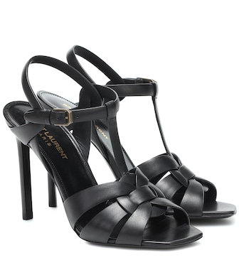 Saint Laurent - Tribute 105 leather sandals - mytheresa.com