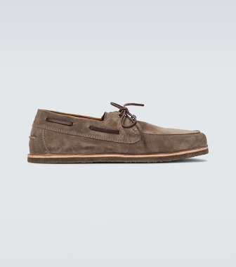 Brunello Cucinelli - Suede boat shoes - mytheresa.com