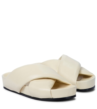 Jil Sander - Padded leather slides - mytheresa.com