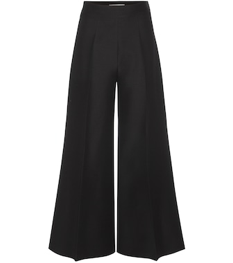 Valentino - High-waisted wool-blend trousers - mytheresa.com
