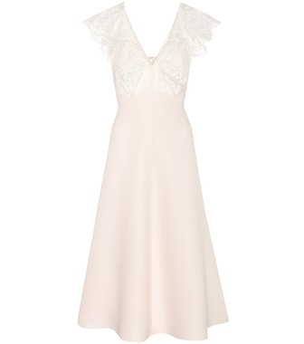 Valentino - Virgin wool and silk dress - mytheresa.com