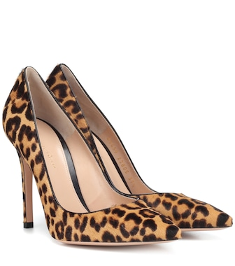 Gianvito Rossi - Gianvito 105 calf hair pumps - mytheresa.com