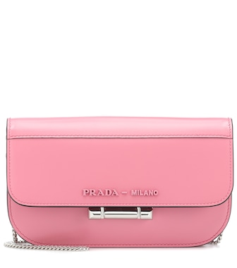 Prada - Sybille Mini leather shoulder bag - mytheresa.com