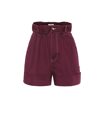 Miu Miu - Cotton-twill shorts - mytheresa.com