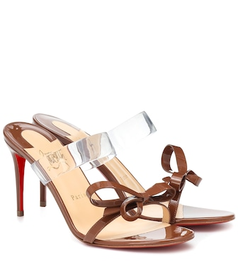 Christian Louboutin - Just Nodo 85 patent-leather sandals - mytheresa.com