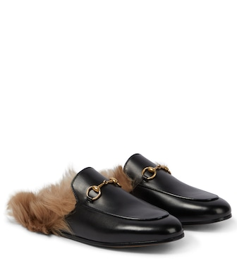 Gucci - Princetown shearling leather slippers - mytheresa.com
