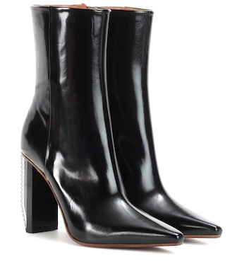 Vetements - Leather ankle boots - mytheresa.com
