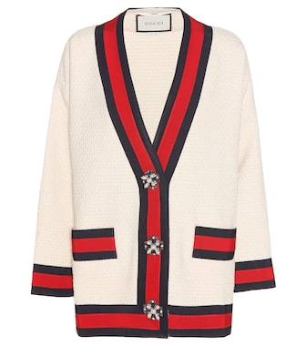 Gucci - Cotton-blend cardigan - mytheresa.com