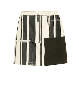 Acne Studios - Hilaria cotton and linen miniskirt - mytheresa.com