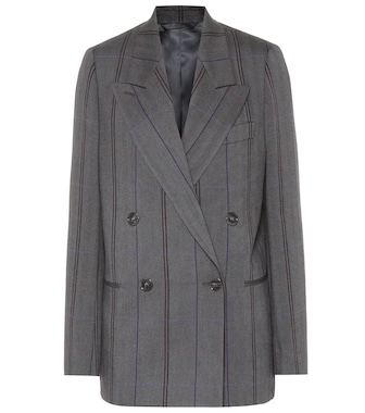 Acne Studios - Checked wool and cotton blazer - mytheresa.com