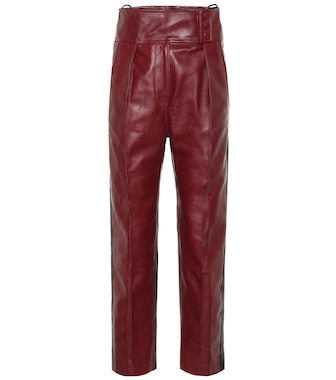 Petar Petrov - Hobson high-rise leather pants - mytheresa.com