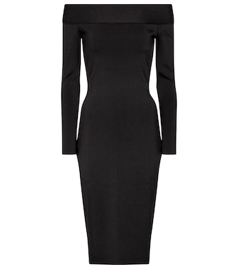 Victoria Beckham - Stretch-knit off-shoulder dress - mytheresa.com