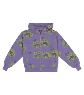 The Animals Observatory - Seahorse floral cotton jersey hoodie - mytheresa.com