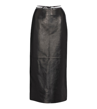 Magda Butrym - Tie-waist leather midi skirt - mytheresa.com