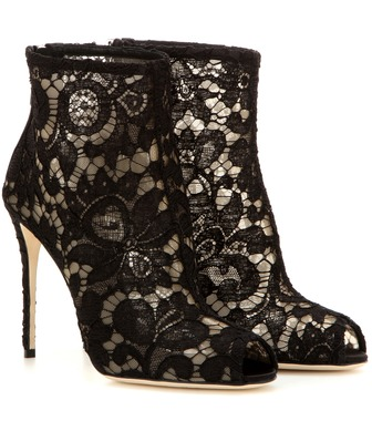 Dolce & Gabbana - Lace open-toe ankle boots - mytheresa.com