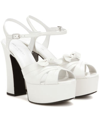 Saint Laurent - Candy 80 leather platform sandals - mytheresa.com