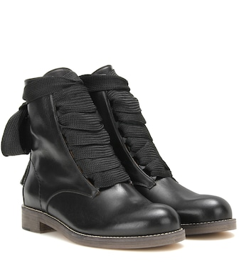 Chloé - Harper leather ankle boots - mytheresa.com