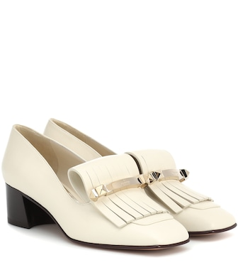 Valentino - Valentino Garavani Fringe leather pumps - mytheresa.com