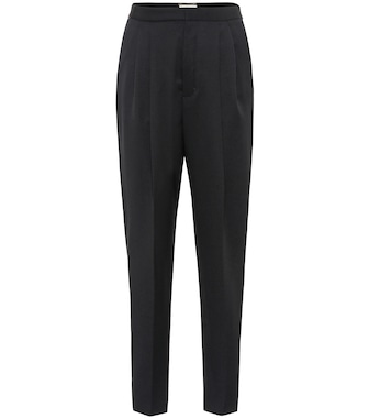 Saint Laurent - High-rise virgin wool pants - mytheresa.com