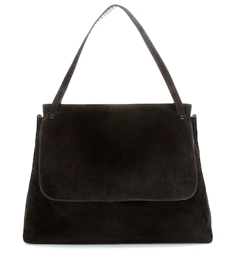 The Row - Top Handle 14 suede shoulder bag - mytheresa.com