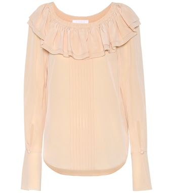 Chloé - Silk top - mytheresa.com