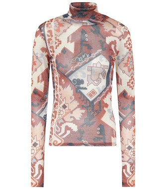 Acne Studios - Printed turtleneck top - mytheresa.com