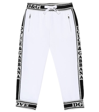 Dolce & Gabbana Kids - L'Amore cotton jersey trackpants - mytheresa.com