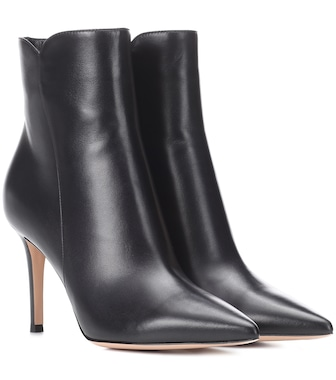Gianvito Rossi - Ankle Boots Levy 85 aus Leder - mytheresa.com